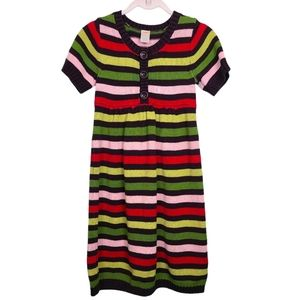 Gymboree Multi-Color Short Sleeve Sweater Dress